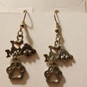 I ❤️ My Dog earrings